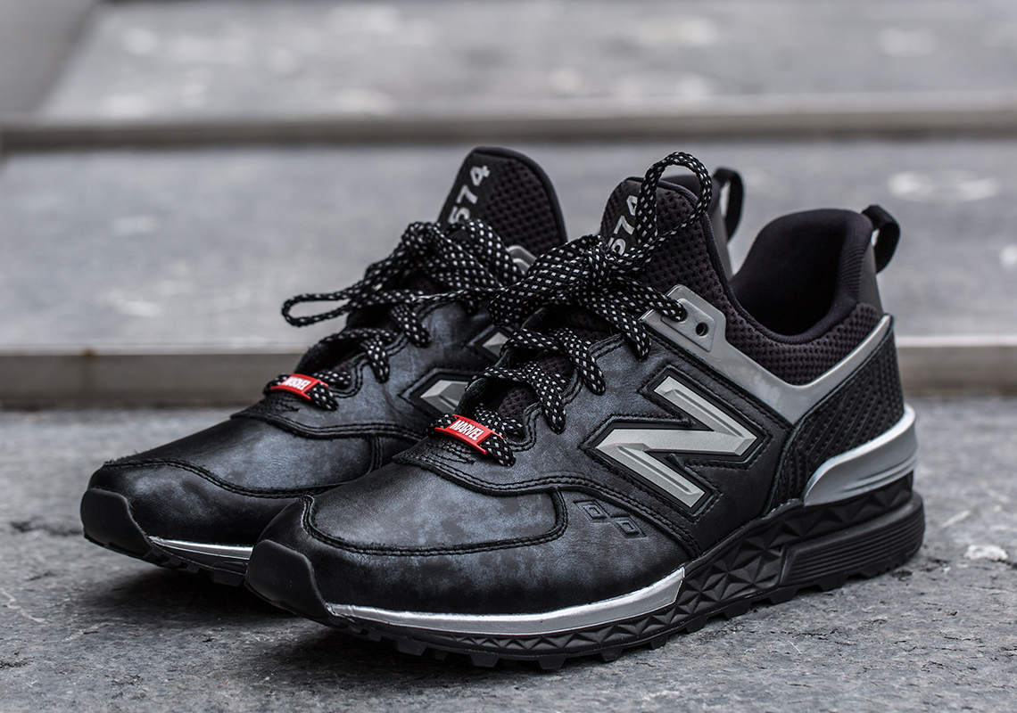 new balance 574 sport negro